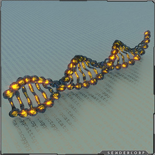 DNA strand | by M Pinarci