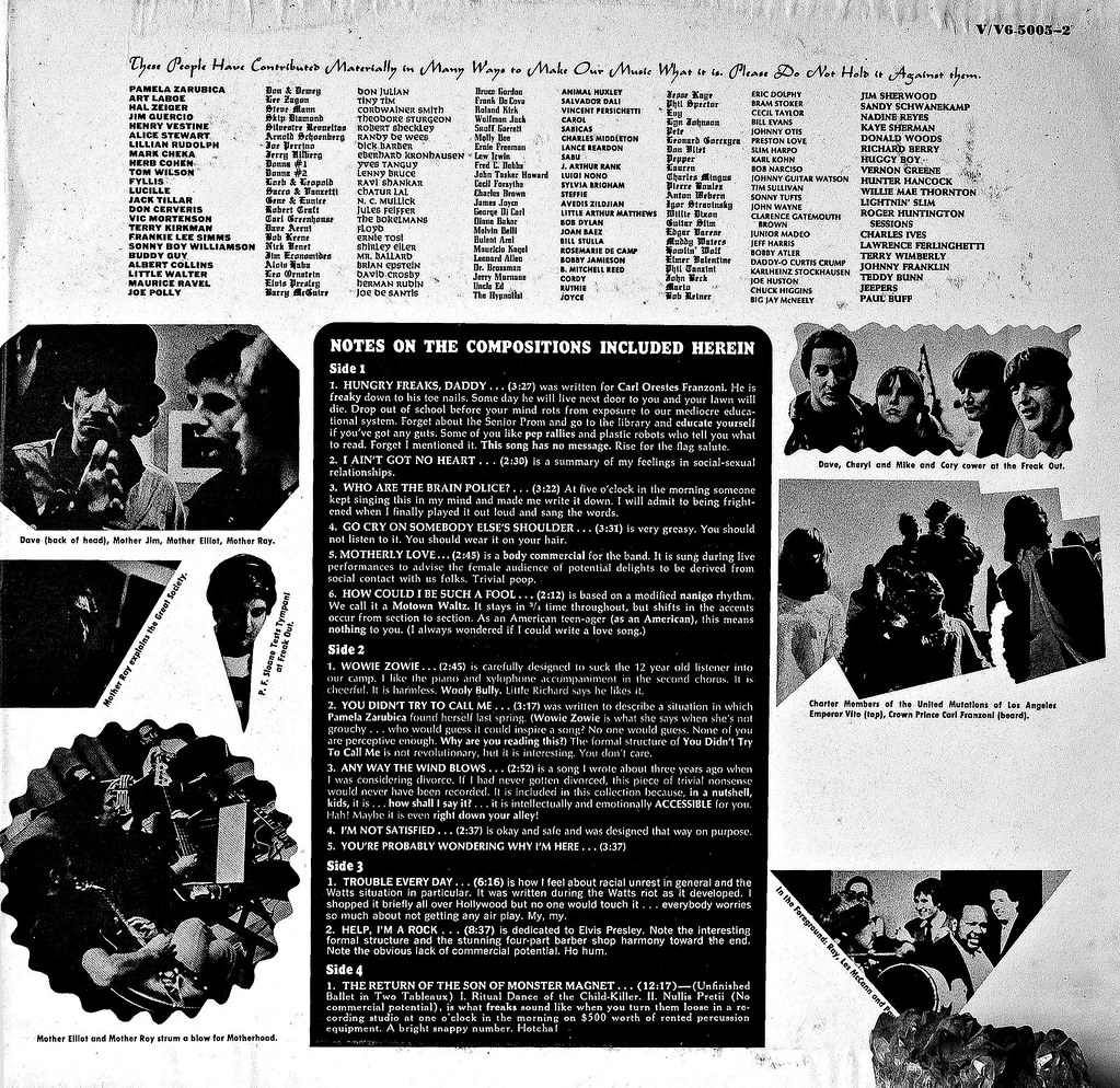 freak out liner notes frank zappa cloud flickr freak out liner notes by cloud2013