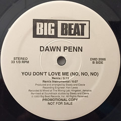 DAWN PENN:YOU DON'T LOVE ME(NO,NO,NO)(LABEL SIDE-B)