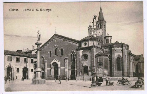 Piazza sant 39 eustorgio 1920 25 mil n l 39 era insc for Piazza sant eustorgio