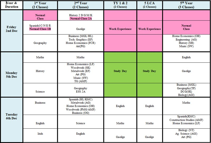 xmas-exam-timetable2016