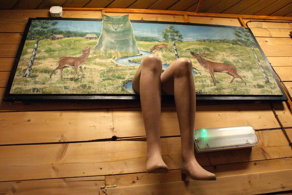 Tableau-collage de Hasior dans son musée de Zakopane.