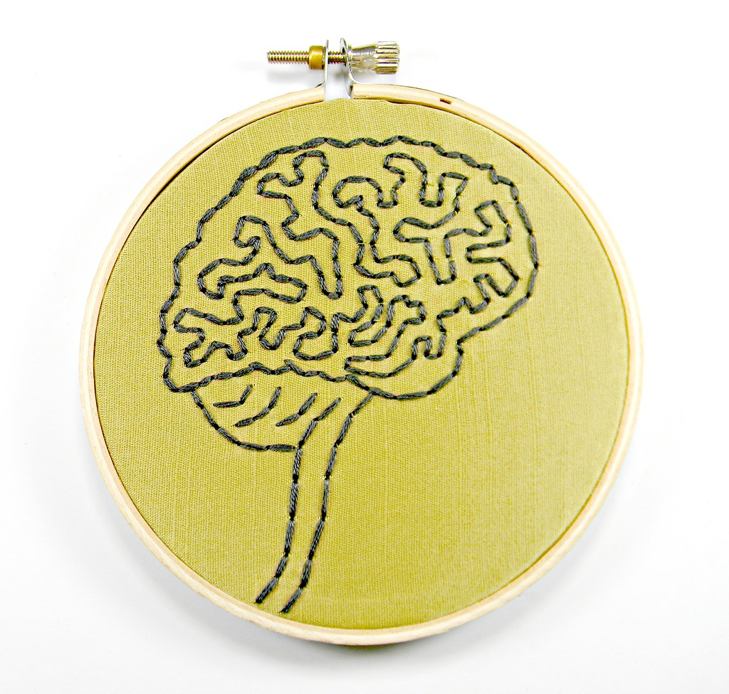 Brain Anatomy Hoop Art. Hand Embroidered Wall Decor | Flickr