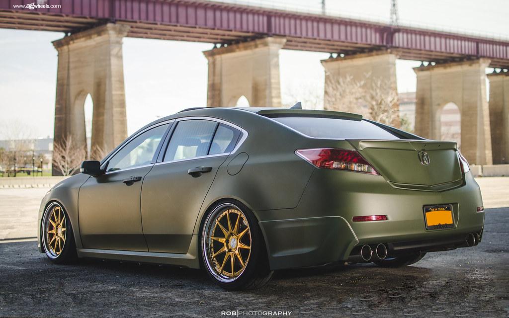 Fgoldbullionacuratlsiderear Avant Garde Wheels Flickr - Acura tl gold rims