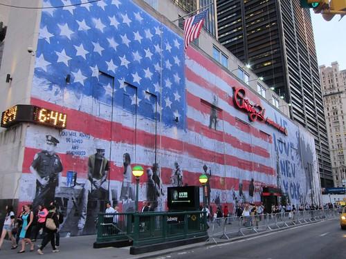 Mr brainwash 9 11 mural on century 21 scott lynch for Mural by mr brainwash