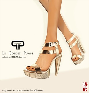 Pure Poison - Le Goldet Pumps - Ad-Ons for SLINK Medium Feet | by Shaleene Kenin - Owner of .::Pure Poison::. STORE