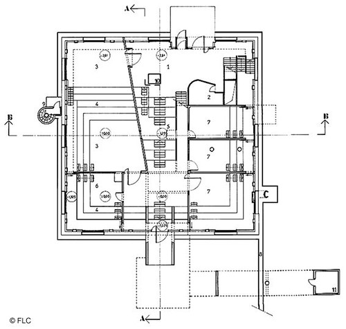 Firminy church ground floor plan by le corbusier site le for Free floor plan website