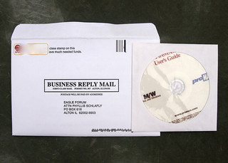 Put old CD's in medium envelopes, it will make it stiff and cost them more postage | by Judith E. Bell