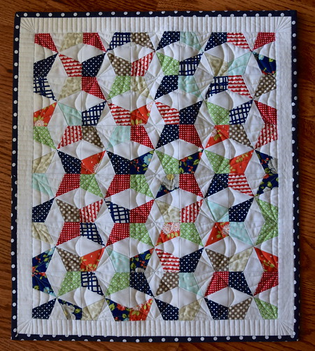 Paper pieced mini quilt | by Quilts Actually
