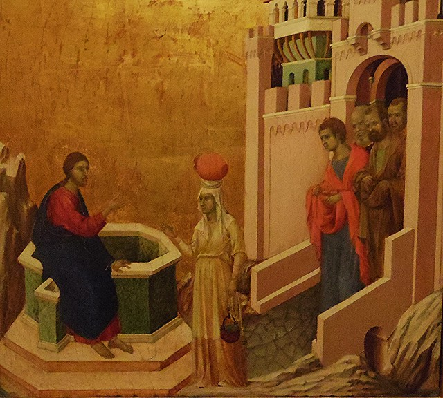 Duccio di Buoninsegna, Le Christ et la Samaritaine