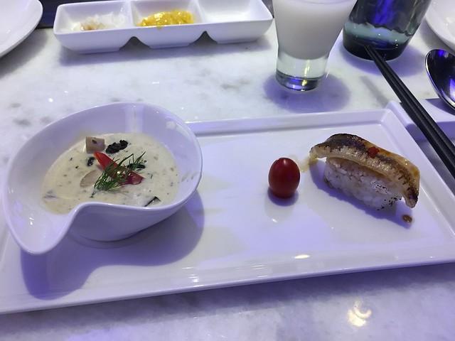法式田螺,小番茄,比目魚握壽司@台中西屯,日橡精緻鐵板料理