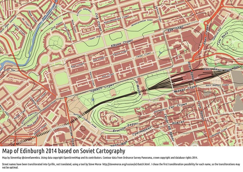 Soviet Military Map of Edinburgh 2014, using QGIS   Emulatin…   Flickr