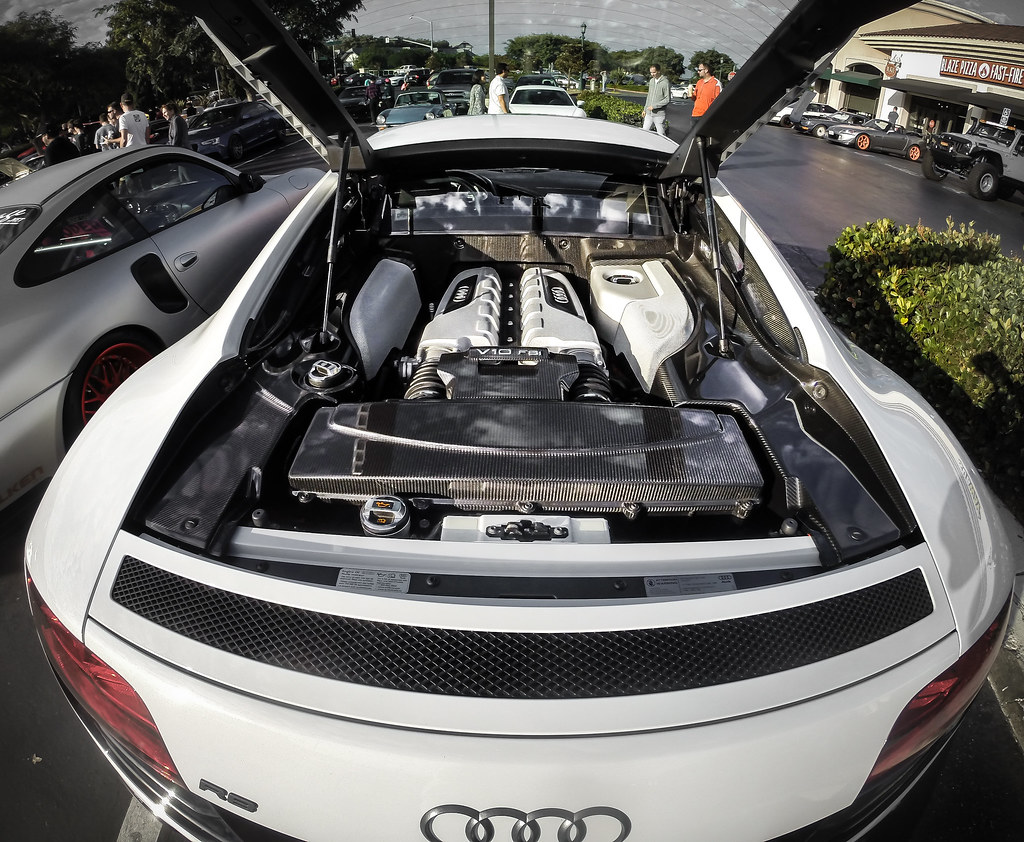 Audi R V Engine Bay Take At Carlsbad Cars And Coffee In Flickr - Audi r8 engine