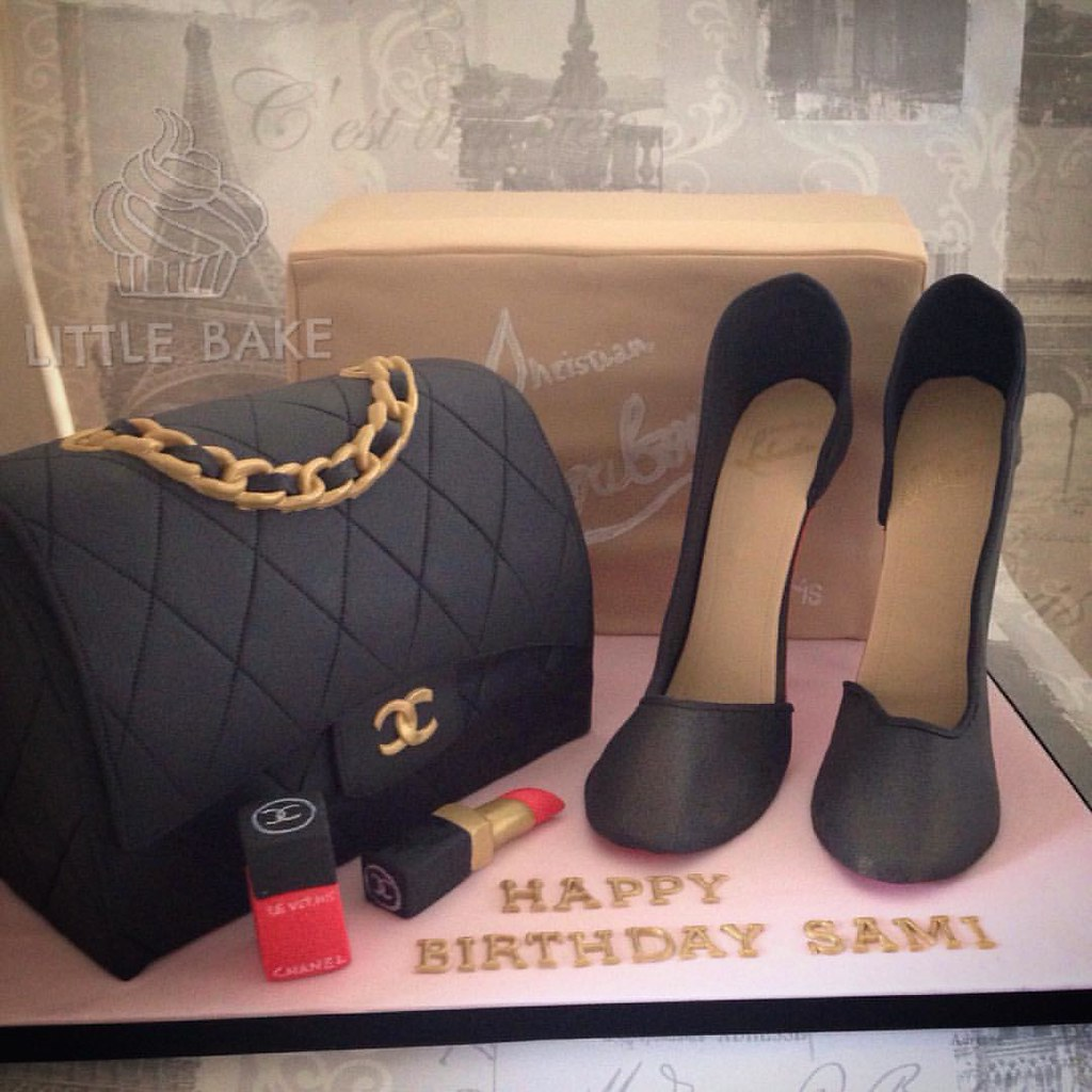 3ae9114a20e2 My Coco Chanel shoe box cake Source · Christian Louboutin Shoe box cake  with fondant shoes and C Flickr