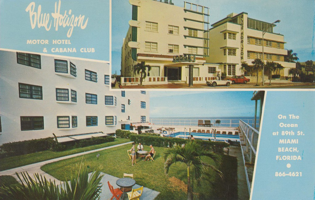 Blue Horizon Motor Hotel & Cabana Club - Miami Beach, Florida