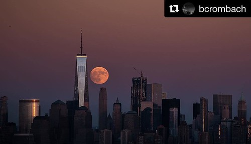 Amazing shot . | #Repost @bcrombach with @repostapp ・・・ Super moon! #photo #usa #america #moon #supermoon #photography #photographer #photooftheday #nikond750 #nikon #nikonphotography #nyc #ny #newyorkcity #newyork #newyorker #newyorknewyork #sunset #nigh | by Nicole Beauchamp