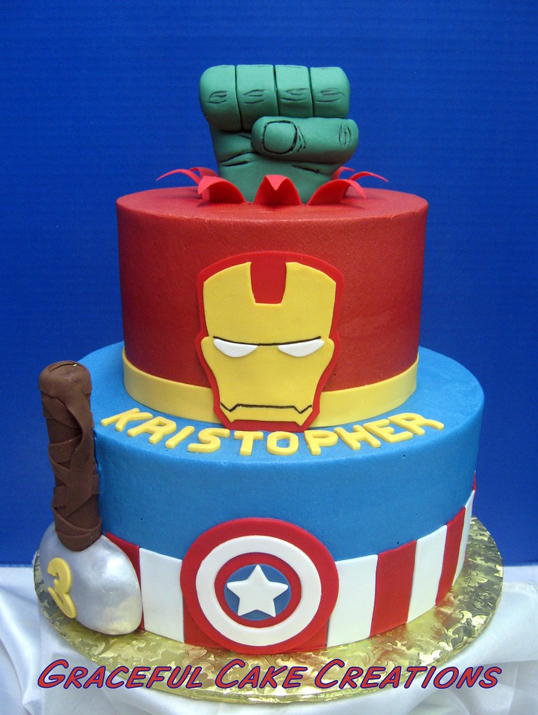 Marvel Avengers Super Hero Birthday Cake Hulk Ironman Ca Flickr