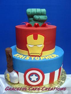 Marvel Birthday Cake Images