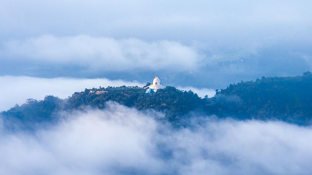 World Peace Pagoda in Dawn