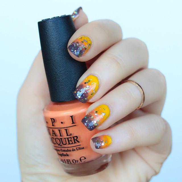 Ombre Fall Manicure Living After Midnite Beauty Nail Art by Jackie Giardina
