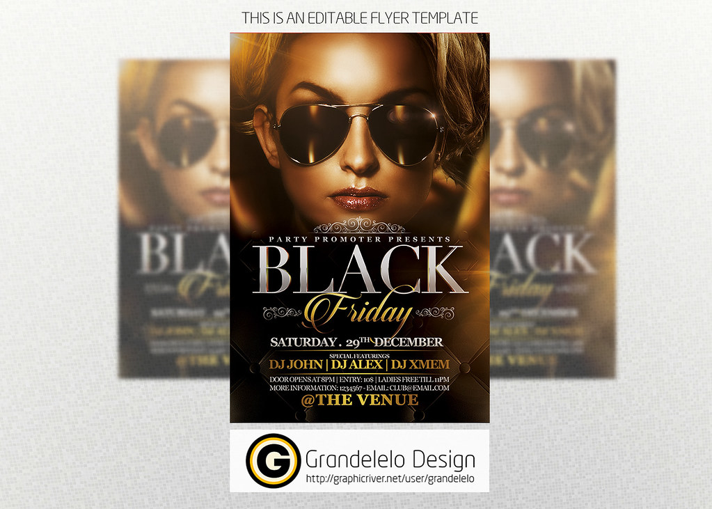The Black Friday Flyer Template D To Download Psd Templ Flickr
