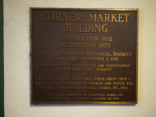 Pike Place Market's Corner Market dedication plaque | by Rob Ketcherside