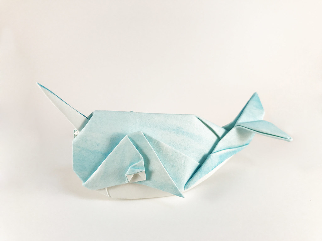 origami narwhal design and fold by ryan dong one piec by ryan origami jeuxipadfo Image collections