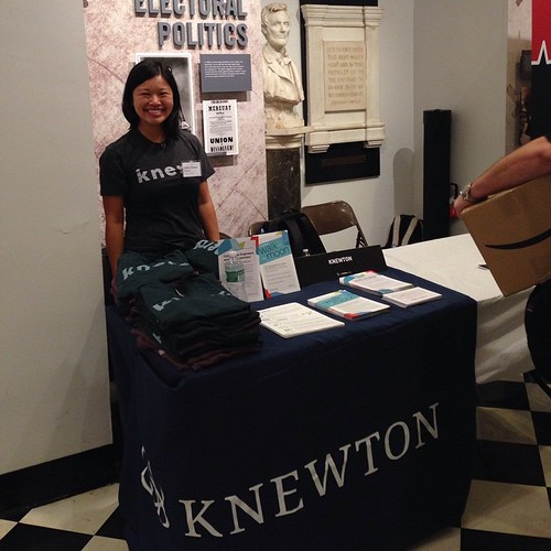 Recruiting at Cooper Union today with fellow #knerd and alumni Christina #knewton | by knewton_inc