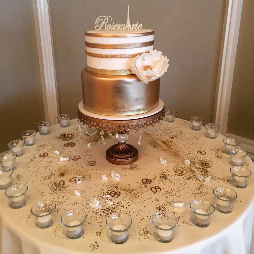 Paris Themed Gold And White Birthday Cake Jenny Wenny Flickr
