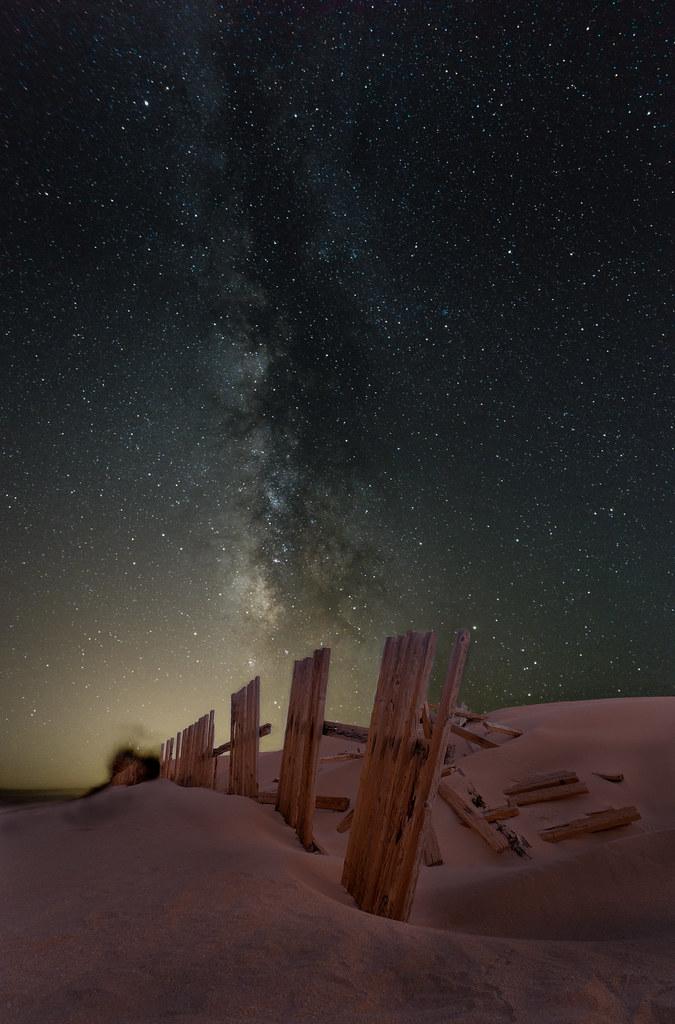 Vía Láctea sobre Valdevaqueros en Paisajes30852390421_76a4d92699_b