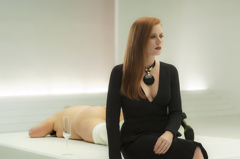 Amy Adams engages in titular contemplation in NOCTURNAL ANIMALS.