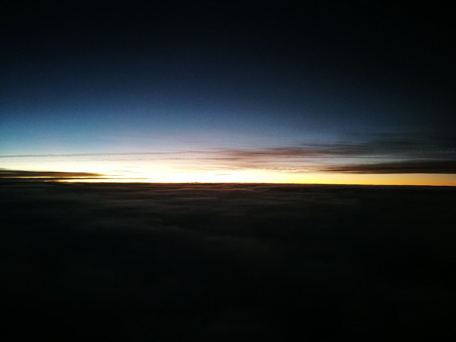 Sunset during the flight