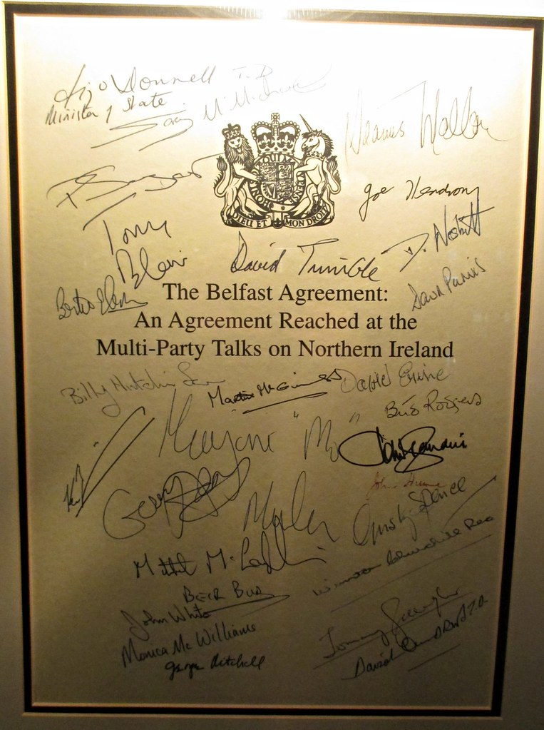 Signatories To The Belfast Agreement Also Known As The Goo Flickr