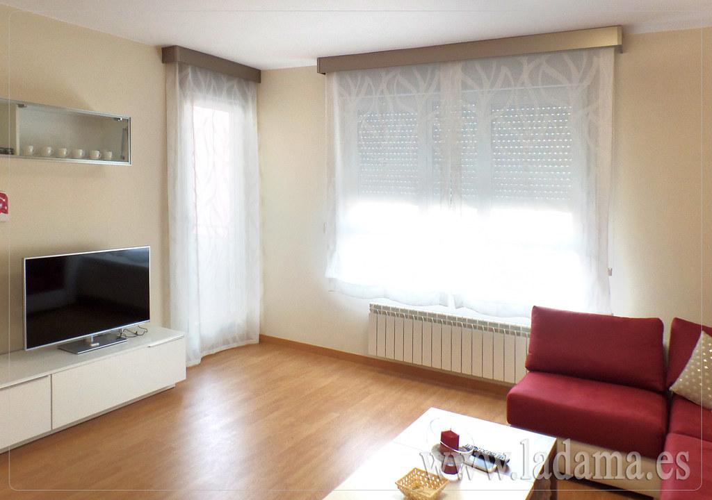 cortina y estores para saln moderno by la dama decoracion with cortinas salon moderno - Cortinas Salon Moderno