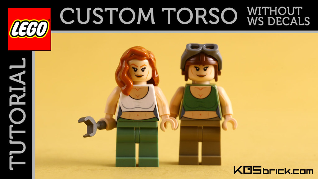 Custom minifigure torso without using water slide decals by kosbrick
