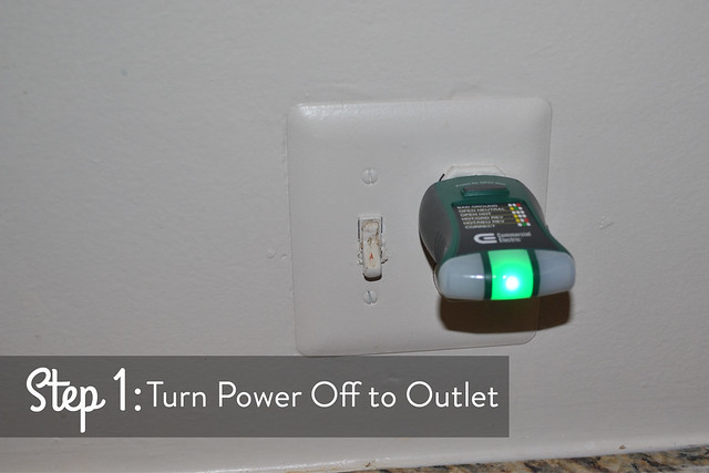 Turn power off to outlet