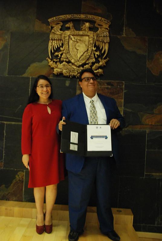 El Dr. Enrique Hernández Lemus recibió la Cátedra Marcos Moshinsky