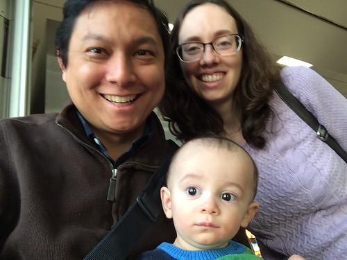 New Jersey Turnpike rest stop family portrait