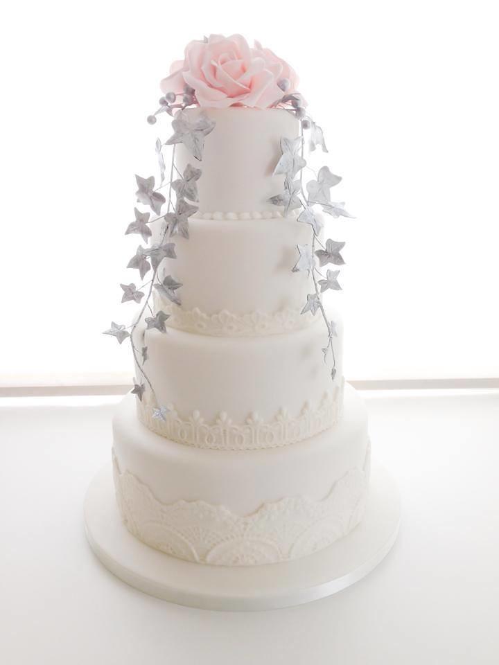 Silver And Blush Pink Wedding Cake Linda Marklund Flickr