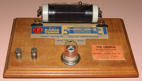 Vintage 1920s Era Crystal Radio With Grewol Detector And I