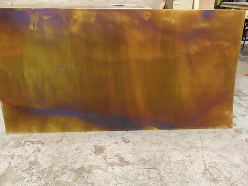 25 bronze distressed brass sheet 2m x 1m olympus for Esstisch 2m x 1m