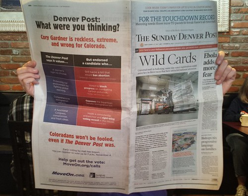 NARAL Pro-Choice America and MoveOn Political Action Ad in the Denver Post | by naralprochoiceamerica