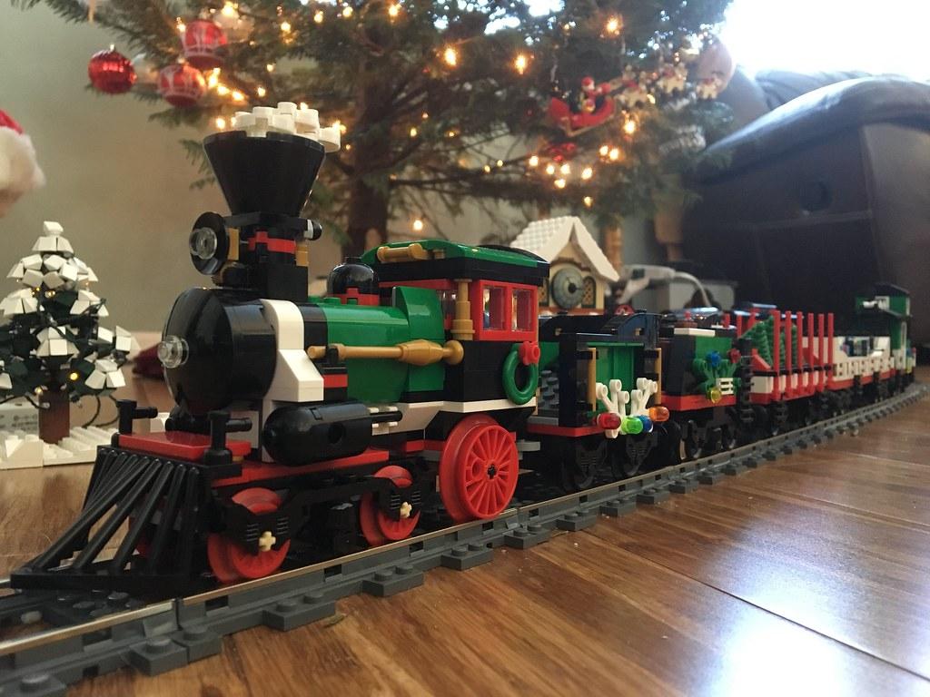 christmas train under our tree lego christmas tree train by - Train Under Christmas Tree