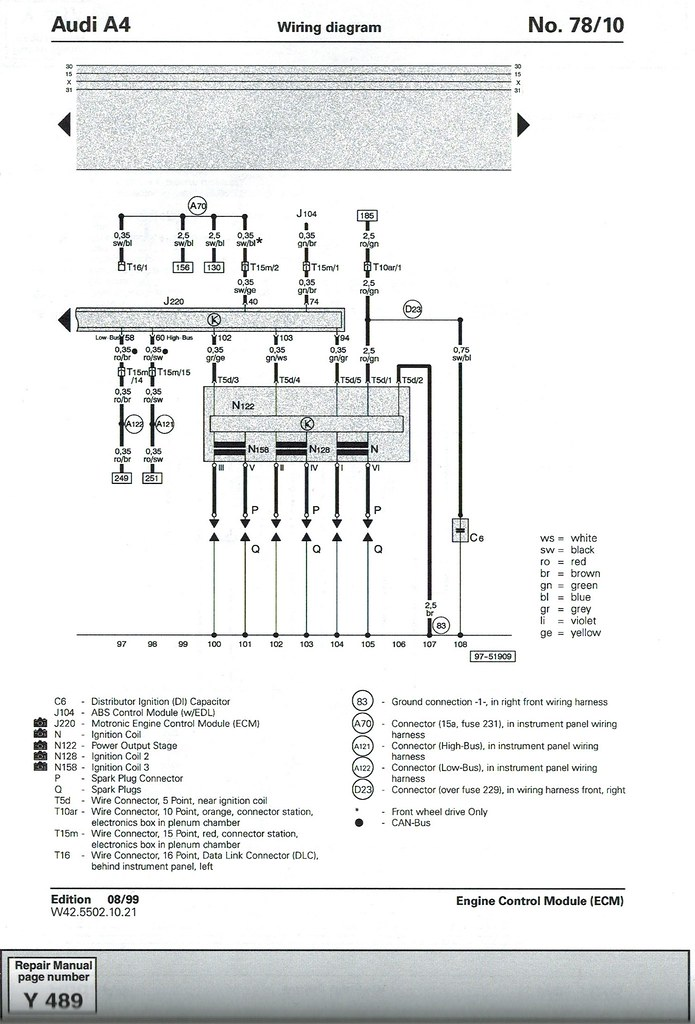 Detailed V8 Swap  B5 A4 4 2l