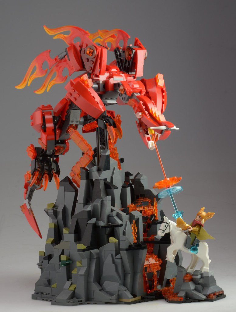 moc the dragon volcano special lego themes eurobricks forums