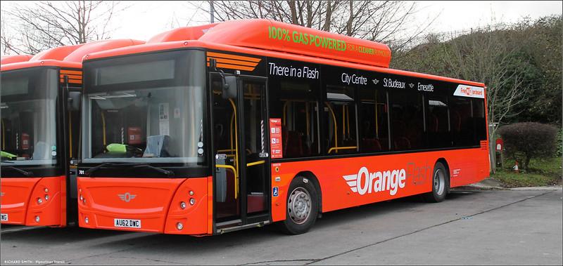 Plymouth Citybus 701 AU62DWC