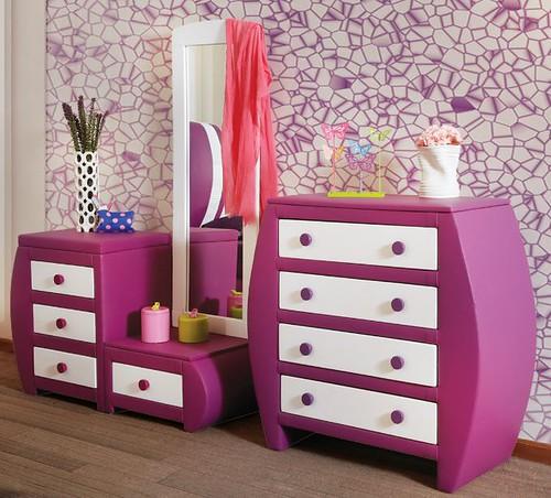 Muebles placencia tocador con espejo cajonera ovalada mora - Tocadores con espejo ...