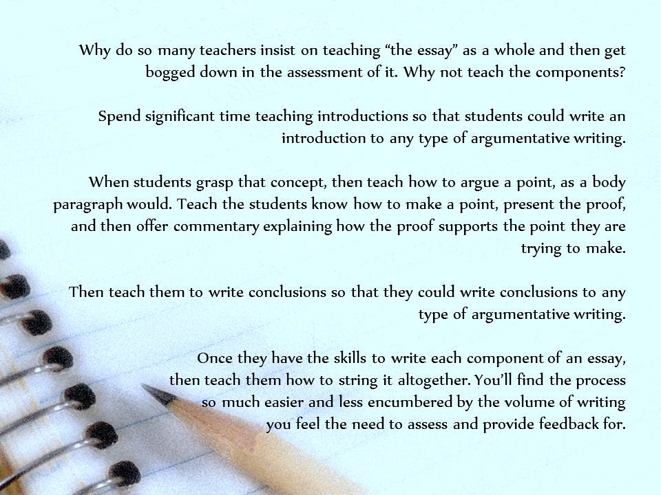 ... Educational Postcard: Thinking about how to teach essay writing - by Ken Whytock