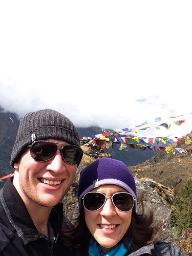 Jordan and I above Namche Bazaar, Nepal. ~11,800ft | by danielorofino