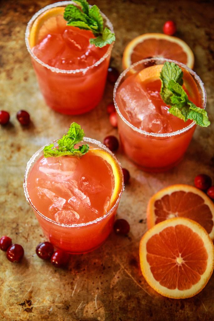 Blood Orange Tequila Mint Fizz from HeatherChristo.com